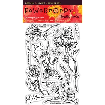 Power Poppy SWEET MEMORIES Spring Fling Clear Stamp Set PPMAR1705