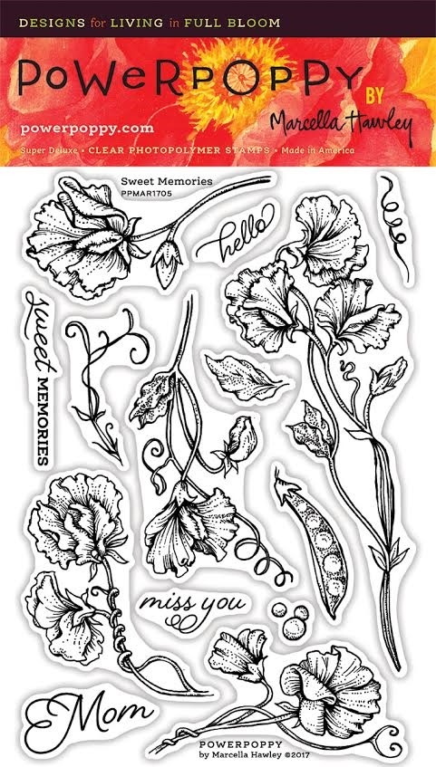 Power Poppy SWEET MEMORIES Spring Fling Clear Stamp Set PPMAR1705 zoom image