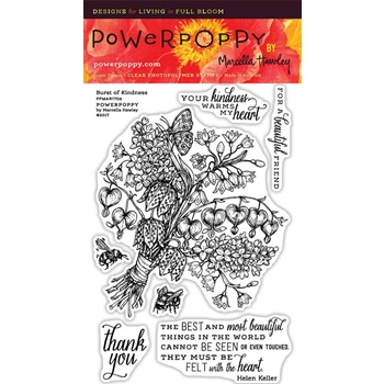 Power Poppy BURST OF KINDNESS Spring Fling Clear Stamp Set PPMAR1706