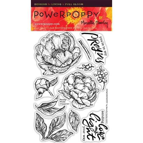 Power Poppy PEONY MUSE Spring Fling Clear Stamp Set PPMAR1707 Preview Image