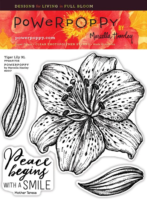 Power Poppy TIGER LILY XL Spring Fling Clear Stamp Set PPMAR1708 zoom image