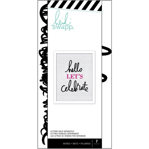 Heidi Swapp BLACK CELEBRATE Letterboard Words Set 315001 Preview Image