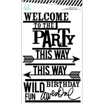 Heidi Swapp BLACK PARTY Letterboard Words Set 315124*