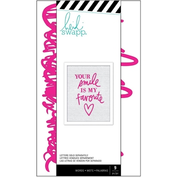 Heidi Swapp PINK LOVE Letterboard Words Set 314999