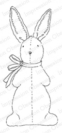 Impression Obsession Cling Stamp CUDDLE BUNNY F20249