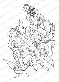 Impression Obsession Cling Stamp SWEETPEAS L13510