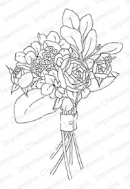 Impression Obsession Cling Stamp SHABBY CHIC BOUQUET J20275