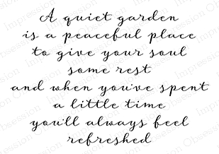 Impression Obsession Cling Stamp QUIET GARDEN F20273