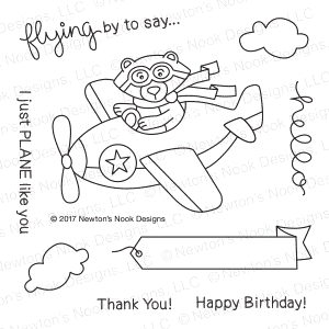 Newton's Nook Designs WINSTON TAKES FLIGHT Clear Stamp Set 20170304 zoom image