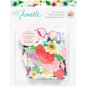 American Crafts Shimelle EPHEMERA Little By Little Die Cut Shapes 378362
