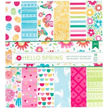 American Crafts HELLO SPRING 6x6 Paper Pad 320548