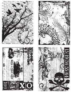Tim Holtz Cling Rubber Stamps ORNATE COLLAGES CMS040  Preview Image