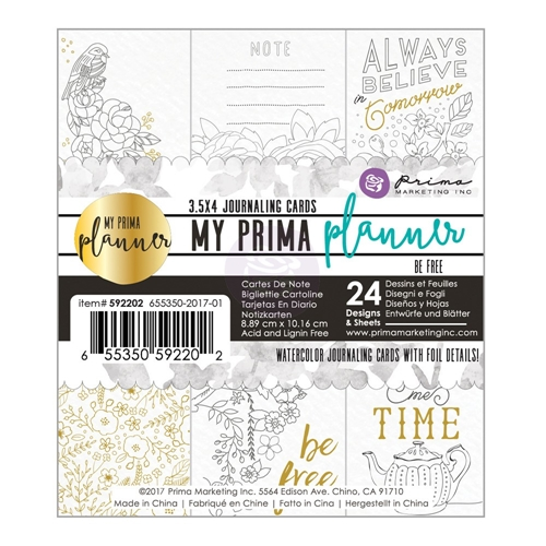 Prima Marketing BE FREE Coloring Journal Cards My Prima Planner 592202 Preview Image