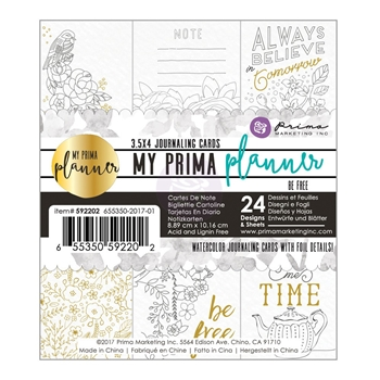 Prima Marketing BE FREE Coloring Journal Cards My Prima Planner 592202