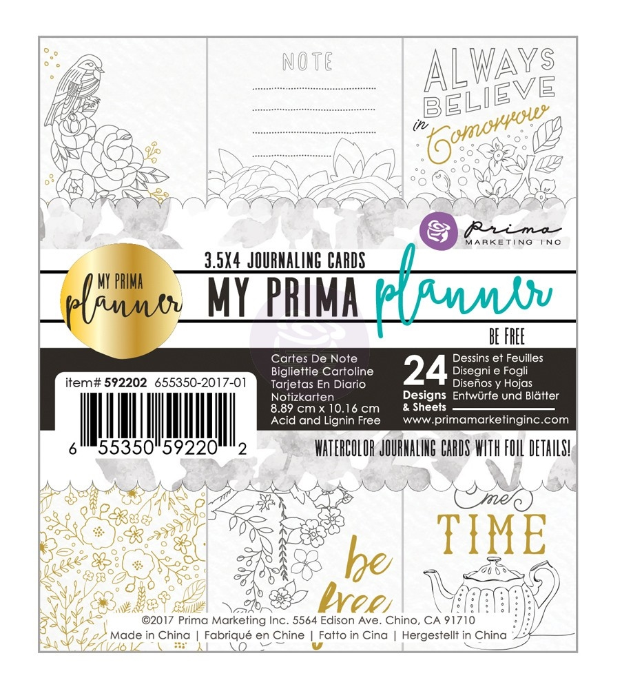 Prima Marketing BE FREE Coloring Journal Cards My Prima Planner 592202 zoom image