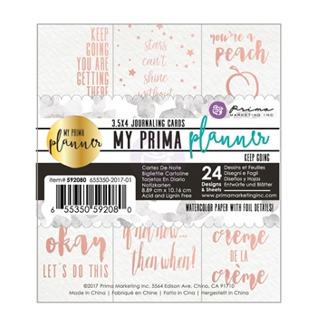 Prima Marketing KEEP GOING Coloring Journal Cards My Prima Planner 592080
