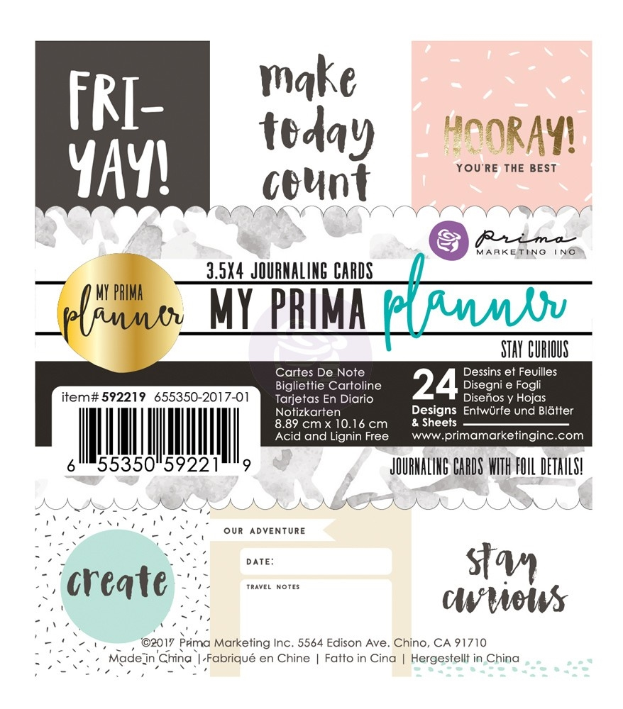 Prima Marketing STAY CURIOUS Journal Cards My Prima Planner 592219 zoom image