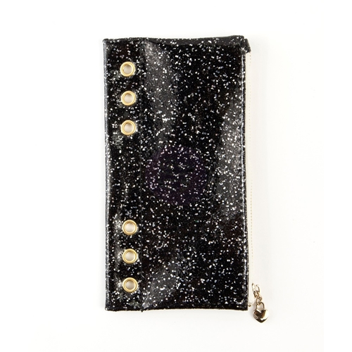 Prima Marketing BLACK GLITTER Pencil Pouch My Prima Planner 595302 Preview Image