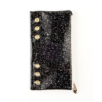 Prima Marketing BLACK GLITTER Pencil Pouch My Prima Planner 595302