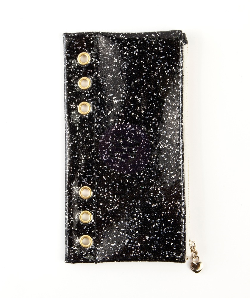 Prima Marketing BLACK GLITTER Pencil Pouch My Prima Planner 595302 zoom image