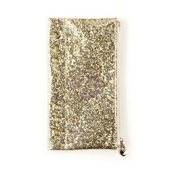 Prima Marketing GOLD GLITTER Pencil Pouch My Prima Planner 595319