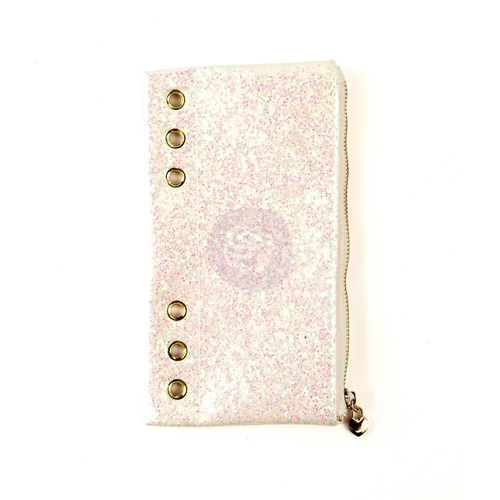 Prima Marketing WHITE GLITTER Pencil Pouch My Prima Planner 593421 Preview Image