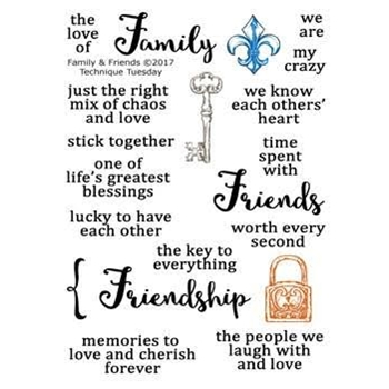 Technique Tuesday FAMILY AND FRIENDS Memory Keepers Studio Clear Stamps 02459