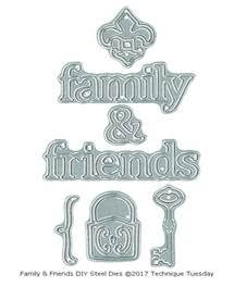 Technique Tuesday DIY Dies FAMILY AND FRIENDS Memory Keepers Studio 02468