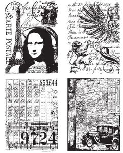 Tim Holtz Cling Rubber Stamps ARTISTIC COLLAGES Stampers Anonymous zoom image