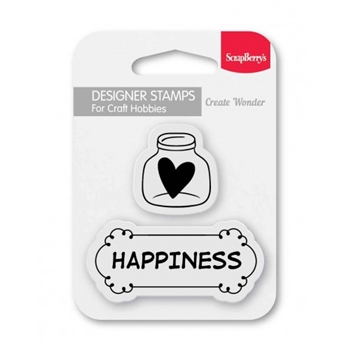 ScrapBerry's HAPPINESS Clear Stamp SCB4907096