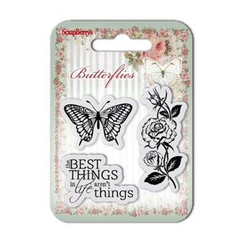 ScrapBerry's THE BEST THINGS Butterflies Clear Stamp SCB4907001B
