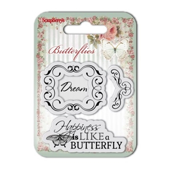 ScrapBerry's DREAM Butterflies Clear Stamp SCB4907002B