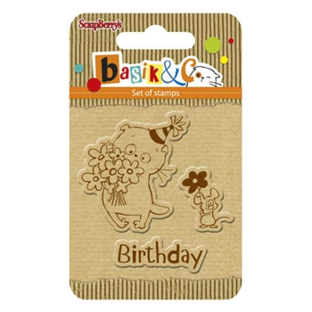 ScrapBerry's BIRTHDAY Basiks New Adventure Clear Stamp SCB4907039