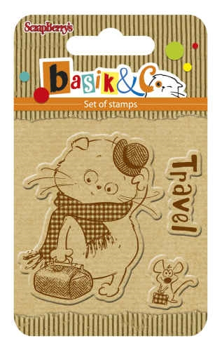 ScrapBerry's TRIP Basiks New Adventure Clear Stamp SCB4907040 Preview Image