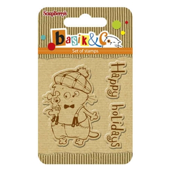 ScrapBerry's HAPPY HOLIDAY Basiks New Adventure Clear Stamp SCB4907041