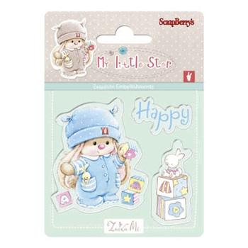 ScrapBerry's BUNNY BIRTHDAY My Little Star Clear Stamp SCB4907042