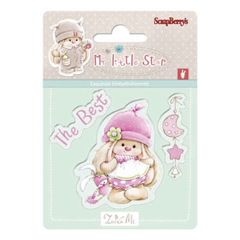ScrapBerry's BEST BUNNY My Little Star Clear Stamp SCB4907043