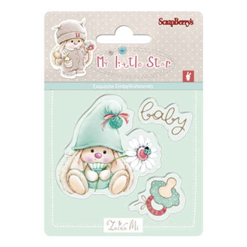 ScrapBerry's BABY BUNNY My Little Star Clear Stamp SCB4907044