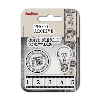 ScrapBerry's SMILE Photo Archive Clear Stamp SCB4907013B