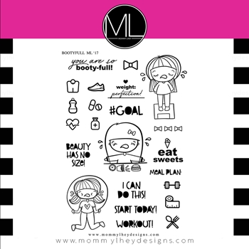 Mommy Lhey BOOTYFUL Clear Stamp MLD183