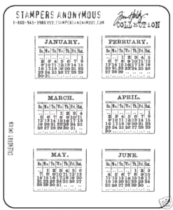 Tim Holtz Cling Rubber Stamps CALENDAR 1 One Stampers Anonymous CMS034