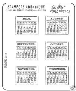 Tim Holtz Cling Rubber Stamps CALENDAR 2 Two Stampers Anonymous CMS035
