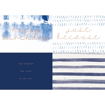 Kaisercraft INDIGO Card and Envelope Set Kaiser Style KS022