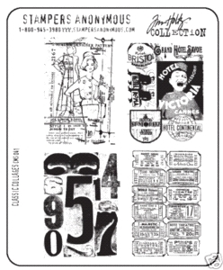 Tim Holtz Cling Rubber Stamps CLASSIC COLLAGES Stampers Anonymous CMS041  zoom image