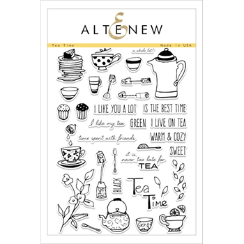 Altenew TEA TIME Clear Stamp Set