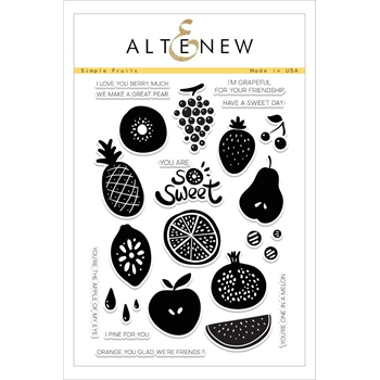 RESERVE Altenew SIMPLE FRUITS Clear Stamp Set