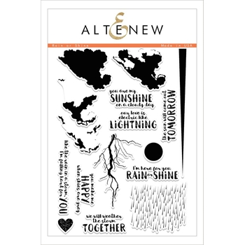 RESERVE Altenew RAIN OR SHINE Clear Stamp Set