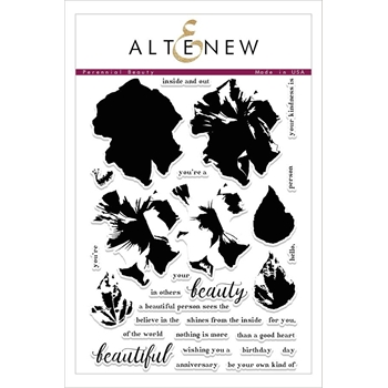 Altenew PERENNIAL BEAUTY Clear Stamp Set