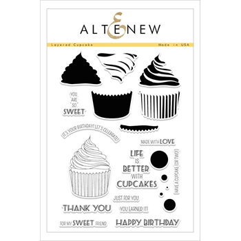 RESERVE Altenew LAYERED CUPCAKE Clear Stamp Set