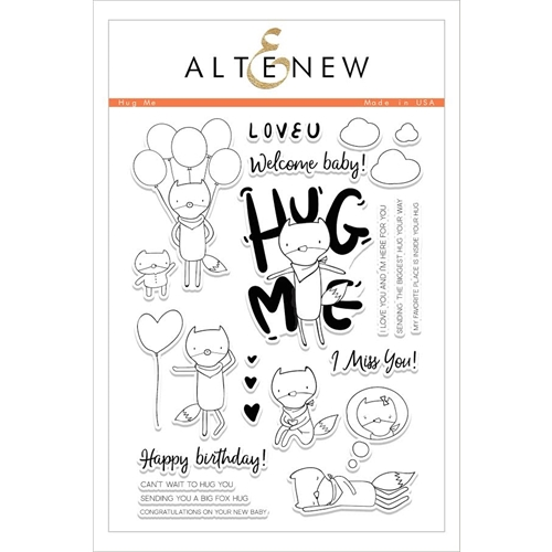 Altenew HUG ME Clear Stamp Set Preview Image